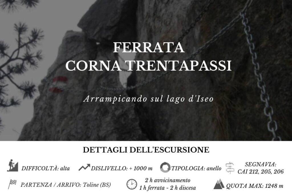 Ferrata Corna Trentapassi BergamoXP