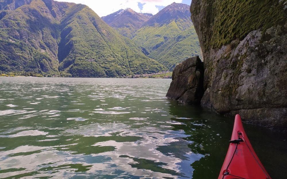 Kayak sul lago di Mezzola - BergamoXP