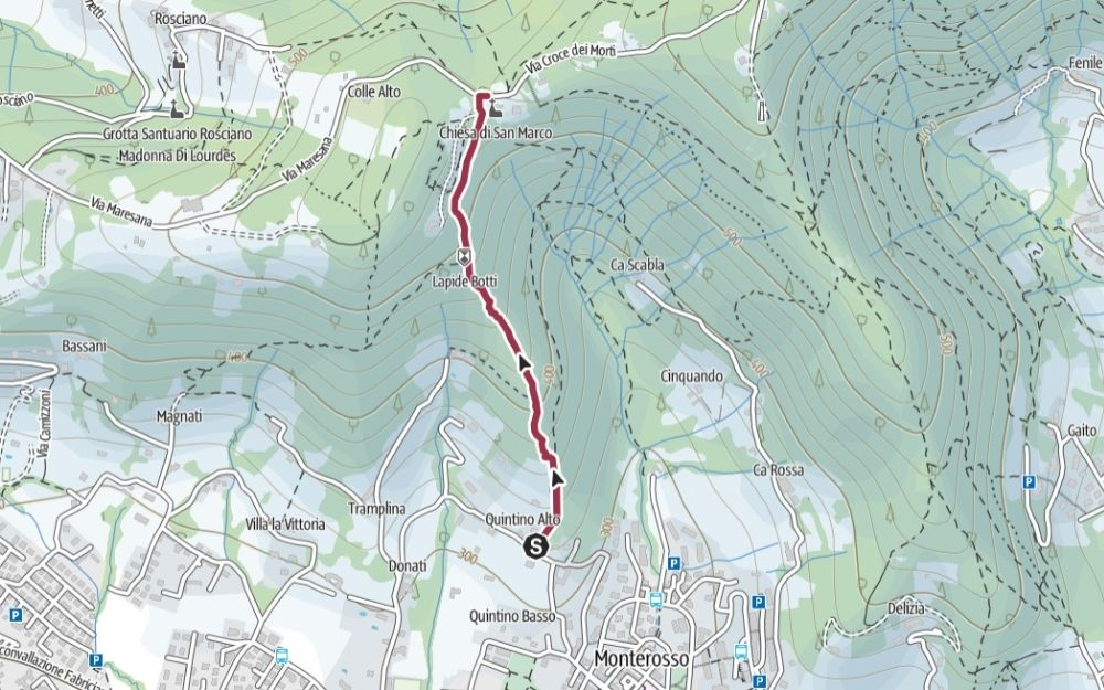 Itinerario - Maresana - BergamoXP